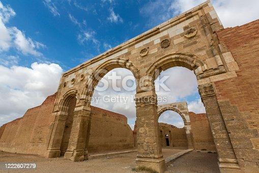 Exterior of the desert castle in Jordan