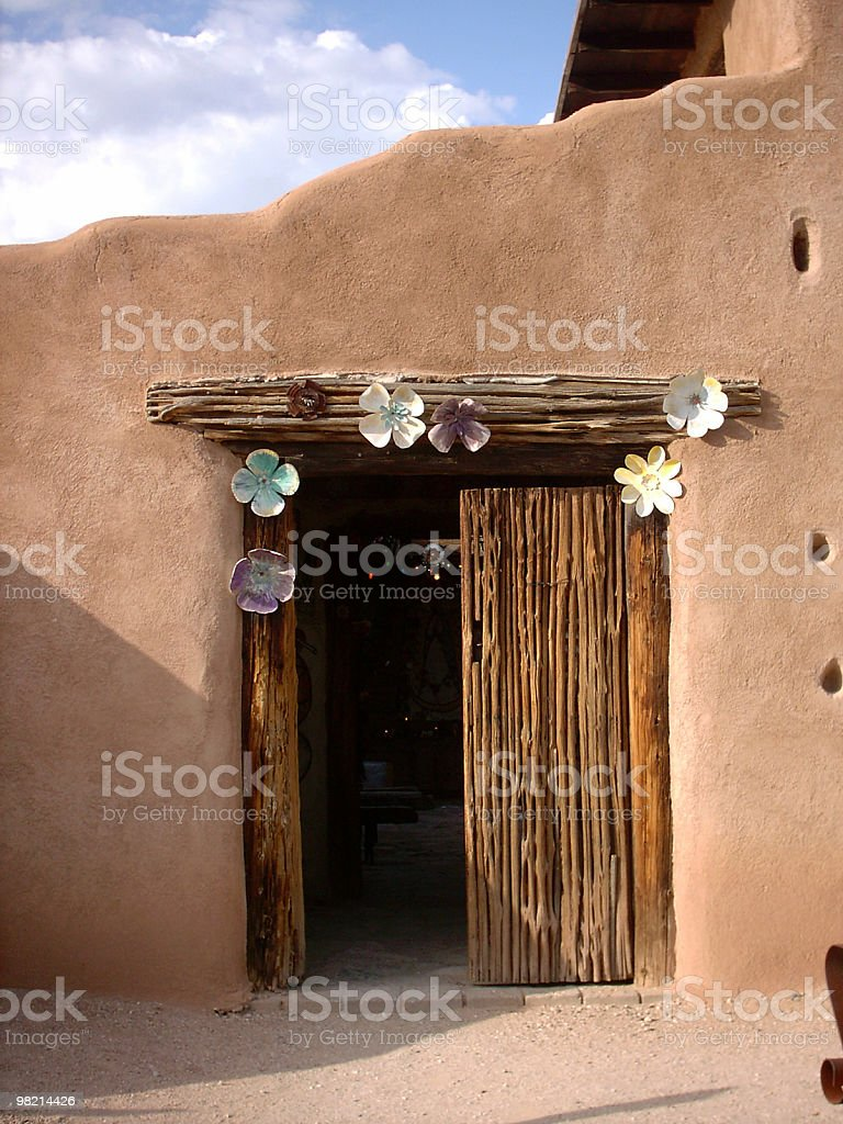 Desert Chapel Door royalty-free stock photo