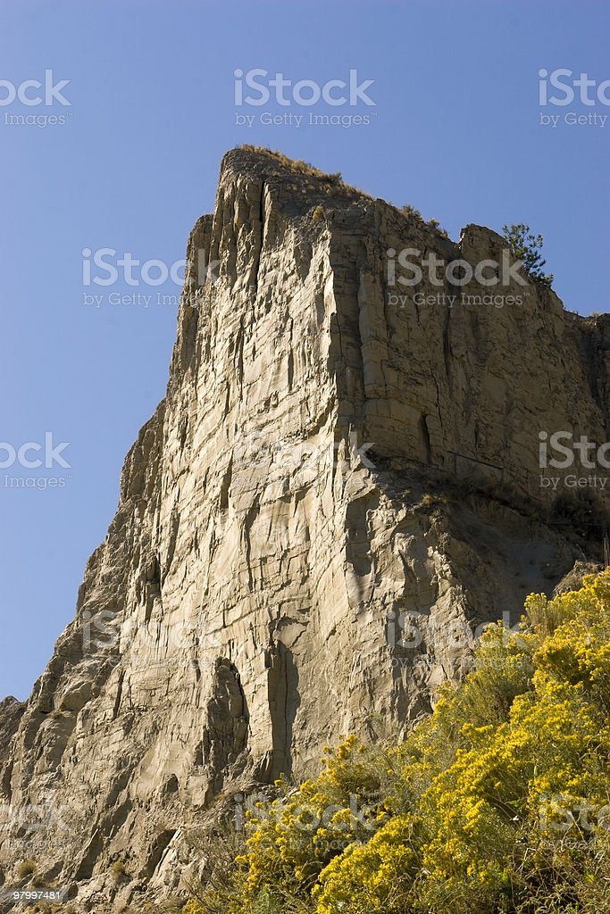 Desert Clay Cliff royalty-free stock photo