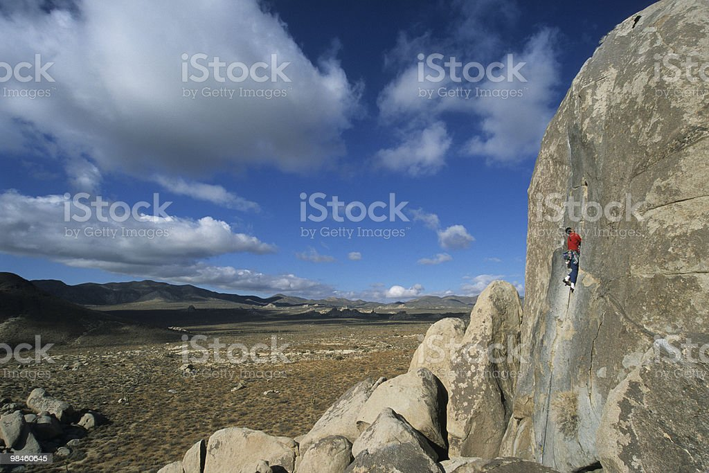 Desert Climber royalty-free stock photo