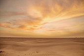 Magnificent clouds during sunset over Sahara Desert in Morocco