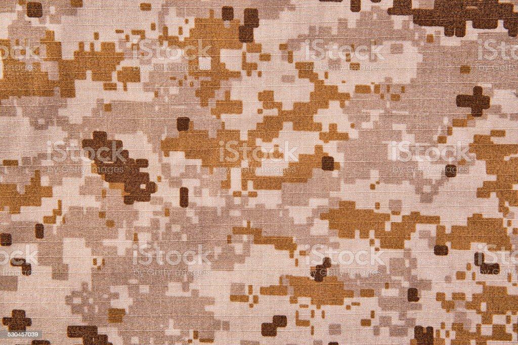 Desert digital camouflage fabric texture background.; stock photo