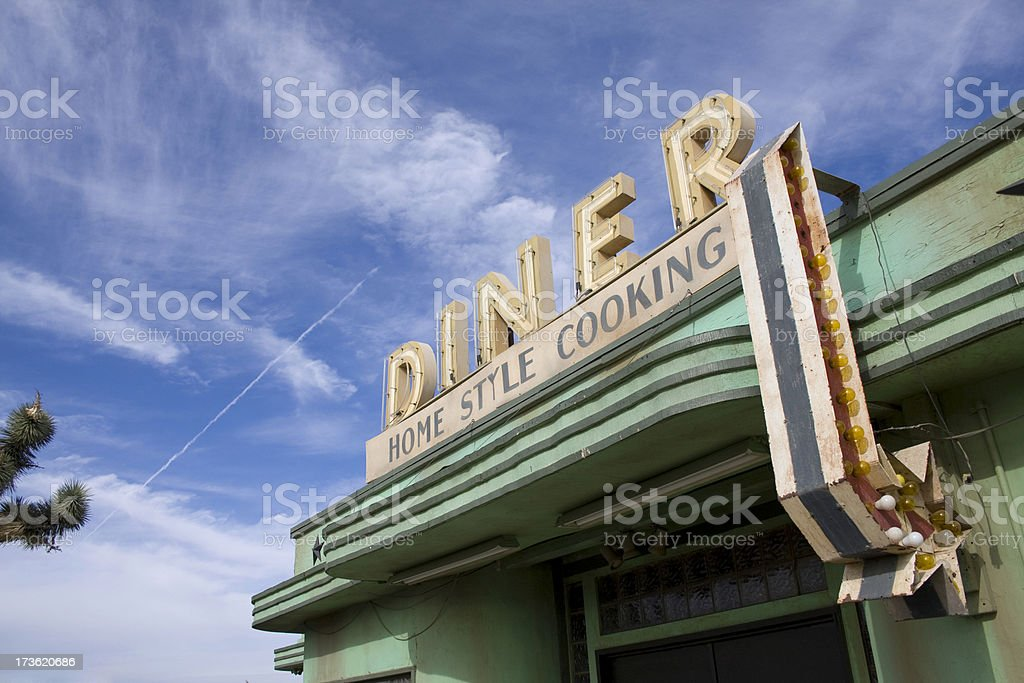 Desert Diner stock photo