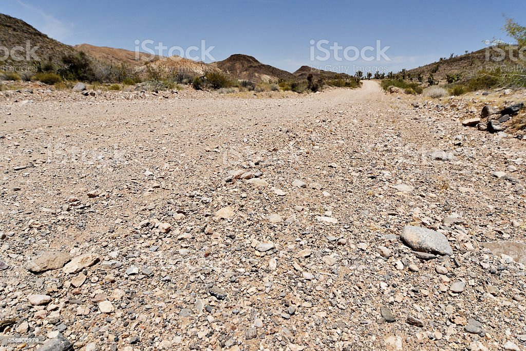 Desert Dirt Road stock photo