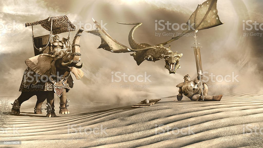 Desert dragon stock photo