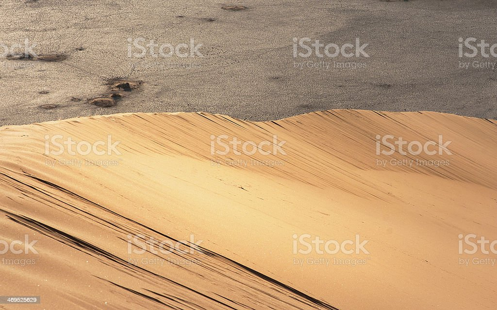 Desert Dune with Barren Background royalty-free stock photo