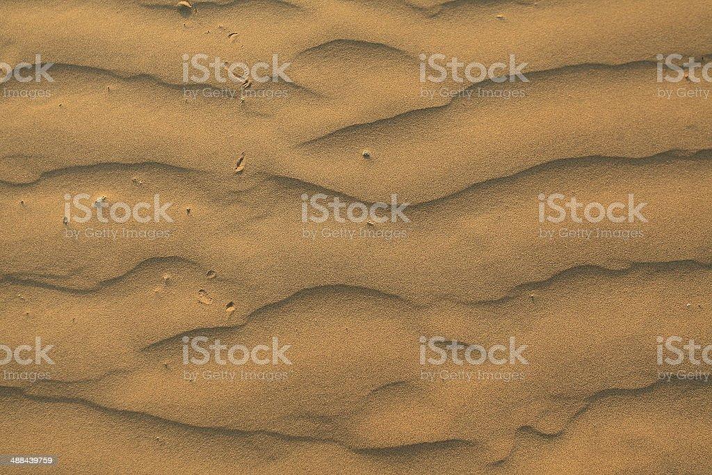 Desert dunes close-up stock photo