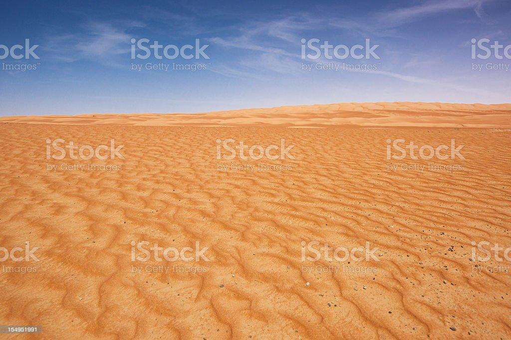 Desert Dunes United Arab Emirates - Oman royalty-free stock photo
