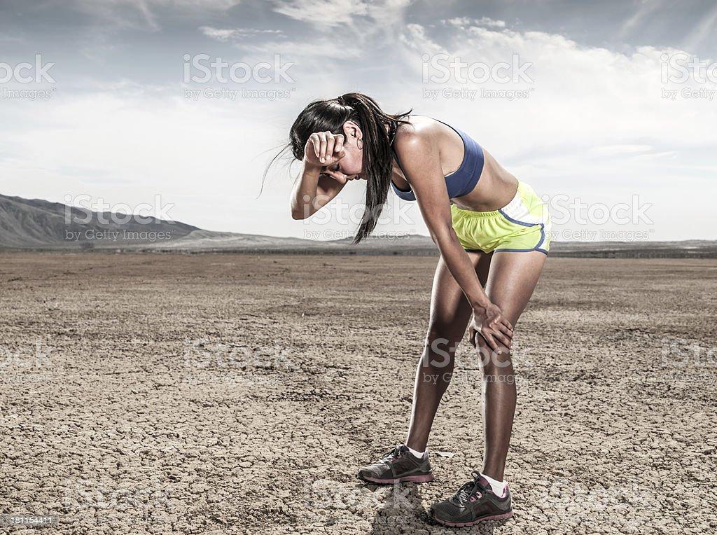 Desert Exhaustion stock photo