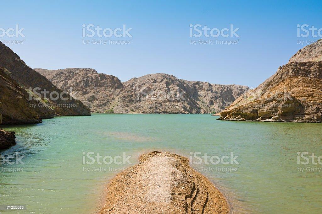 Desert Fjords Oman Landscape royalty-free stock photo