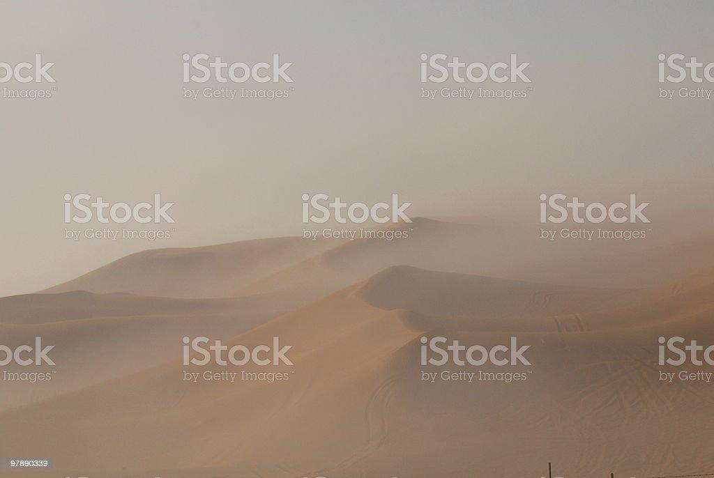 desert fog royalty-free stock photo