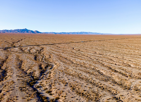 Desert freeway in southern California