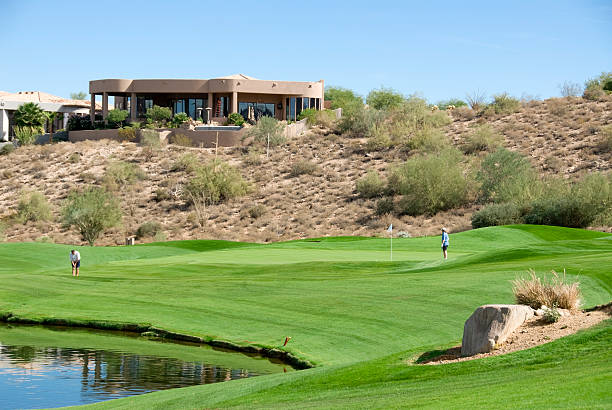 Desert Golf Community stock photo