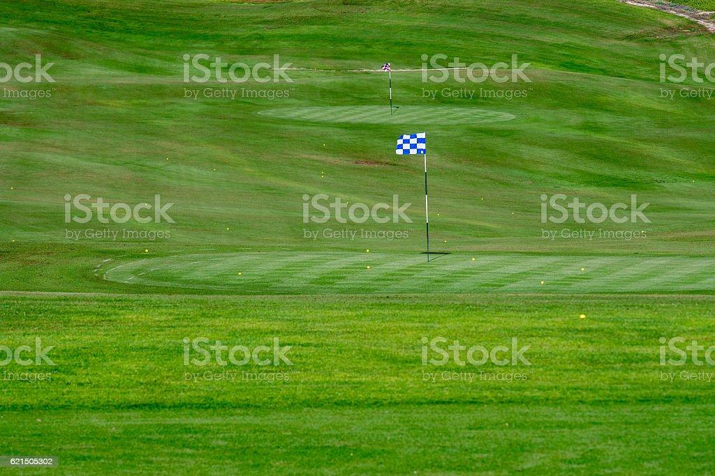 desert golf course green Lizenzfreies stock-foto