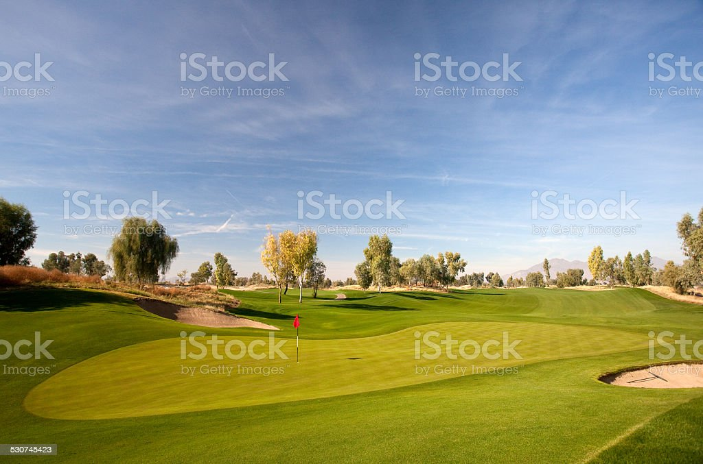 Desert Golf Course near Phoenix and Scottsdale stock photo