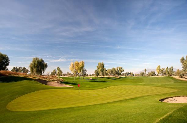 Desert Golf Course near Phoenix and Scottsdale stock photo