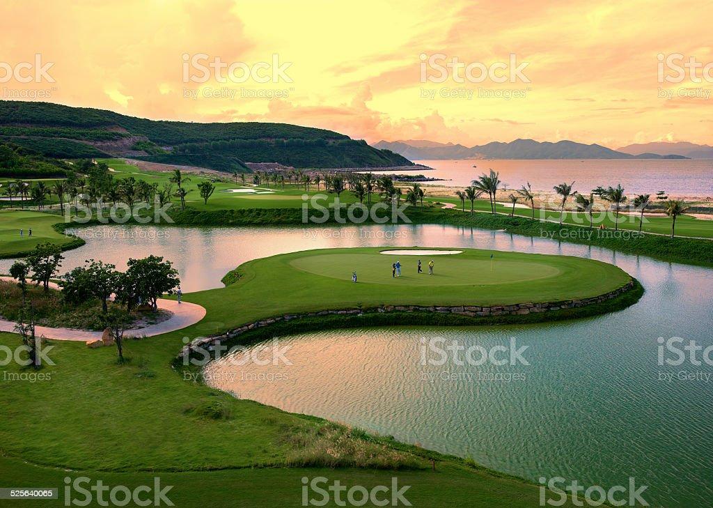 Desert Golf Course stock photo