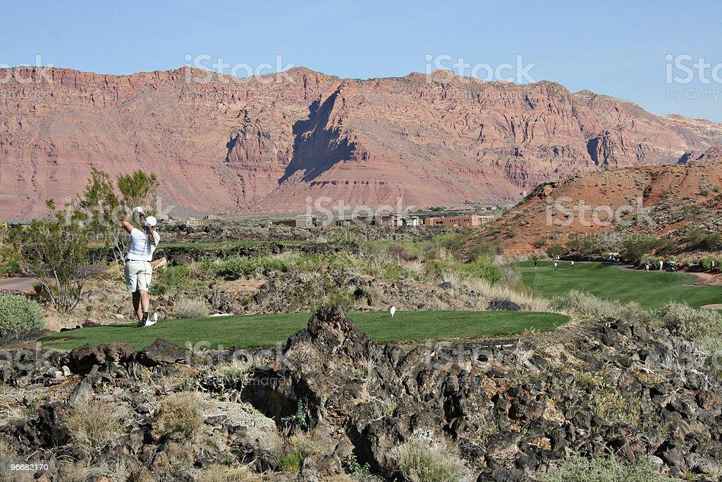 Desert Golf Fairway stock photo