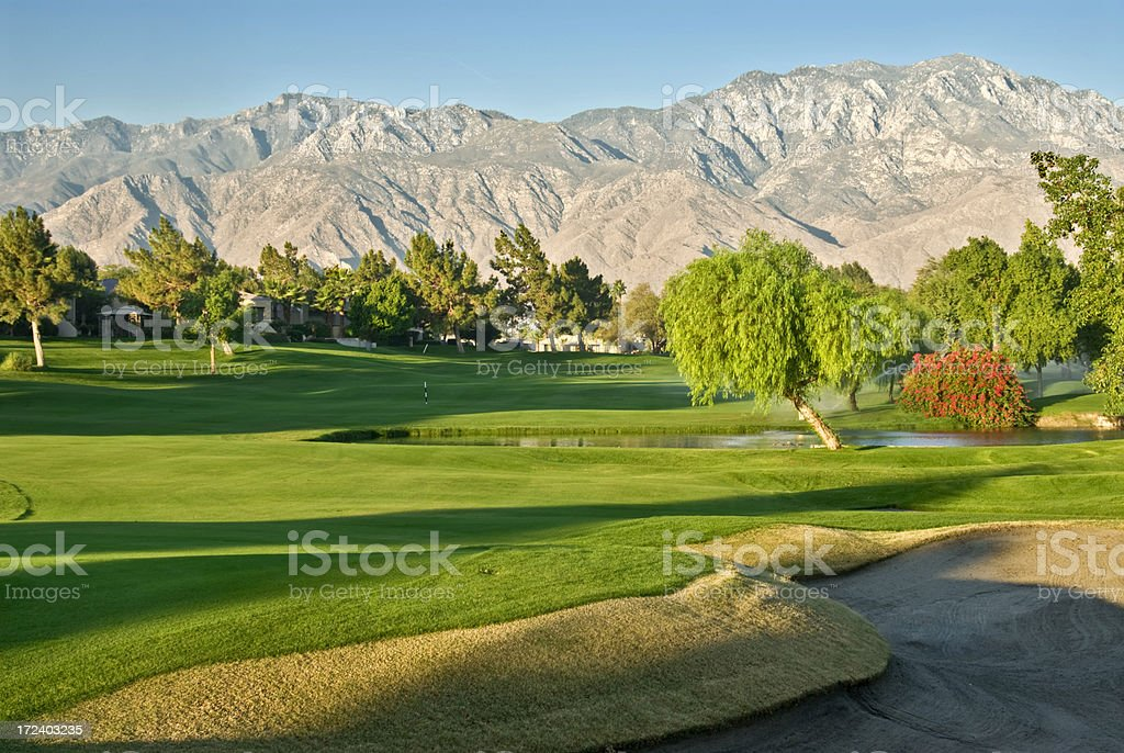 Desert Golf Resort stock photo