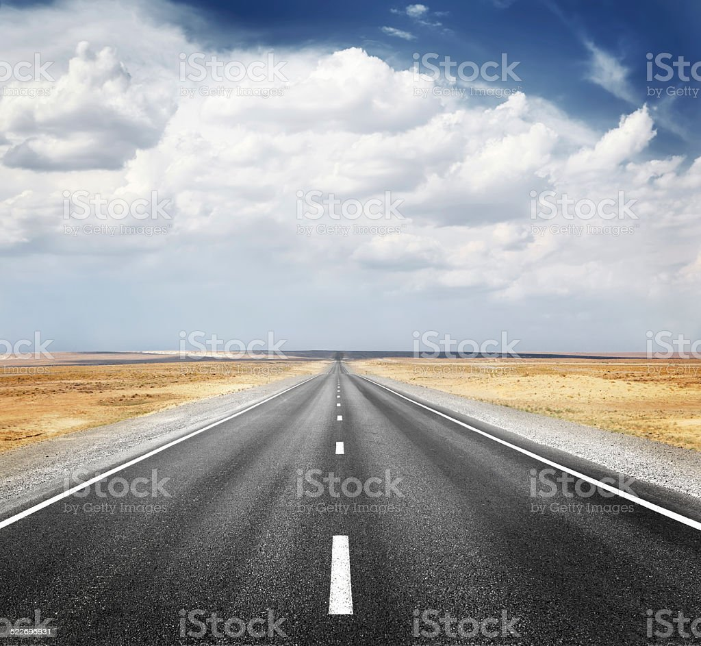 desert highway stock photo