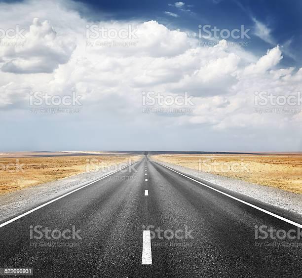 Desert Highway Stock Photo - Download Image Now