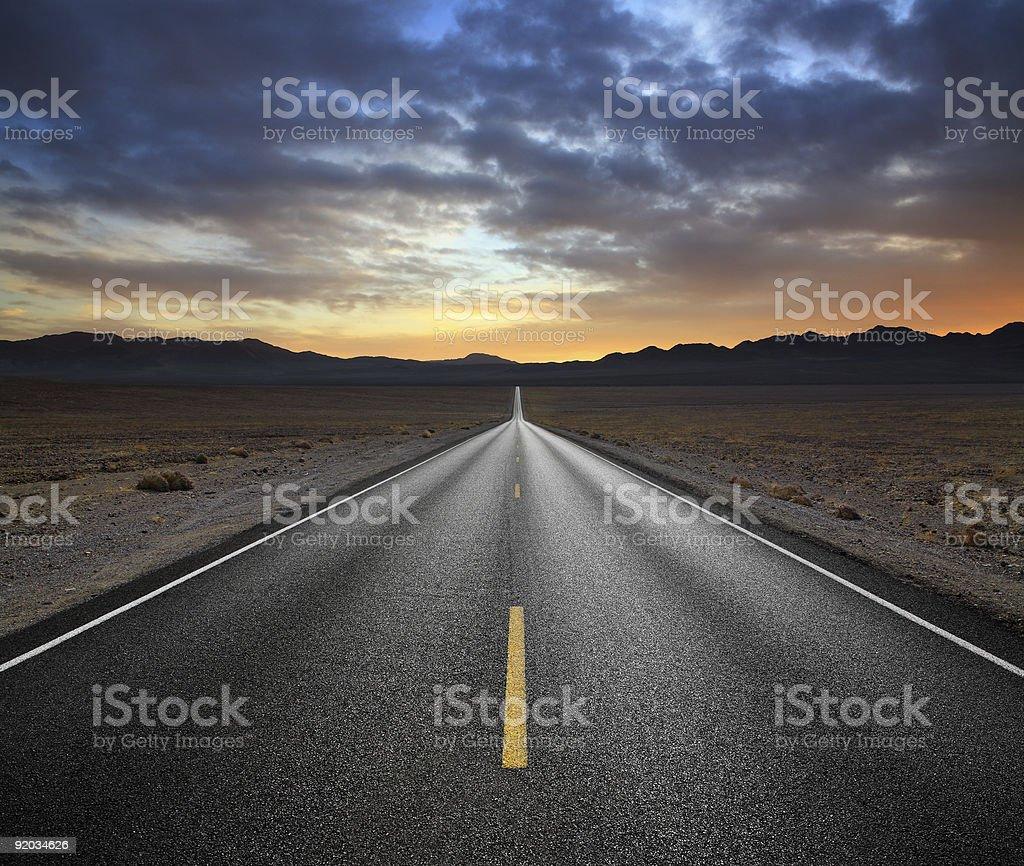 Carretera del desierto - foto de stock