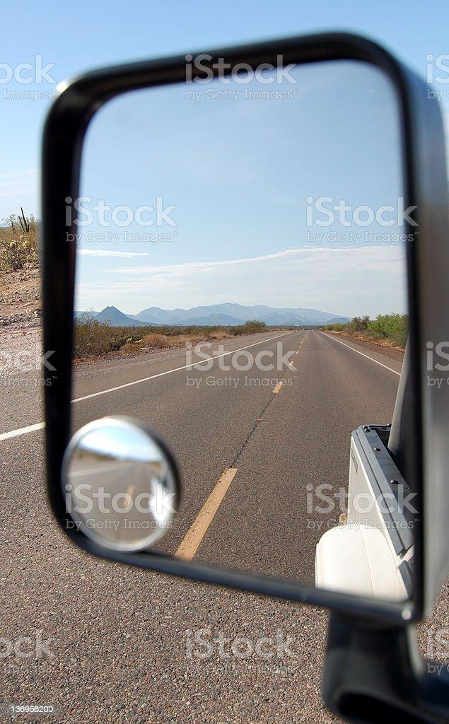 Desert Highway Views royalty-free stock photo