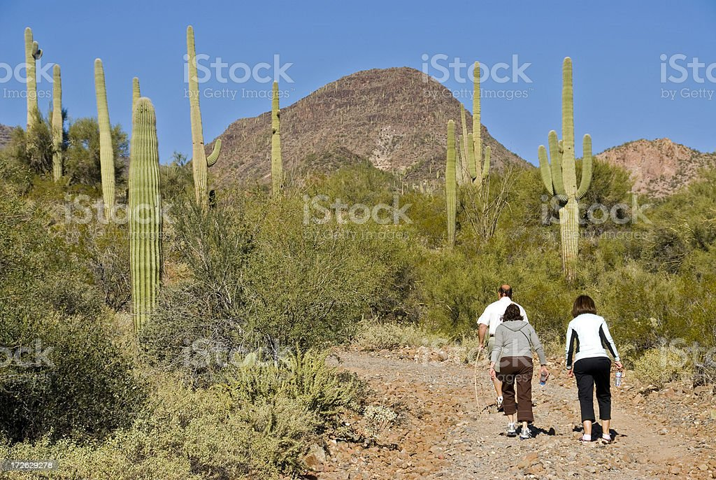 Desert Hike stock photo