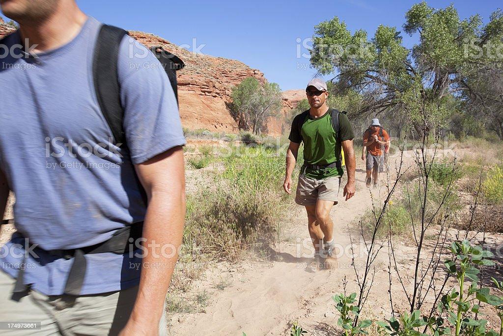 desert hiking royalty-free stock photo