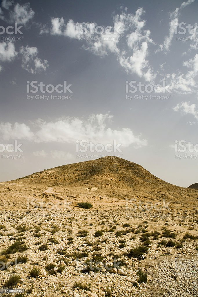 desert hill landscape stock photo