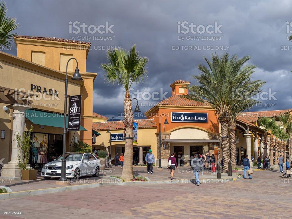 Desert Hills Premium Outlet Mall stock photo