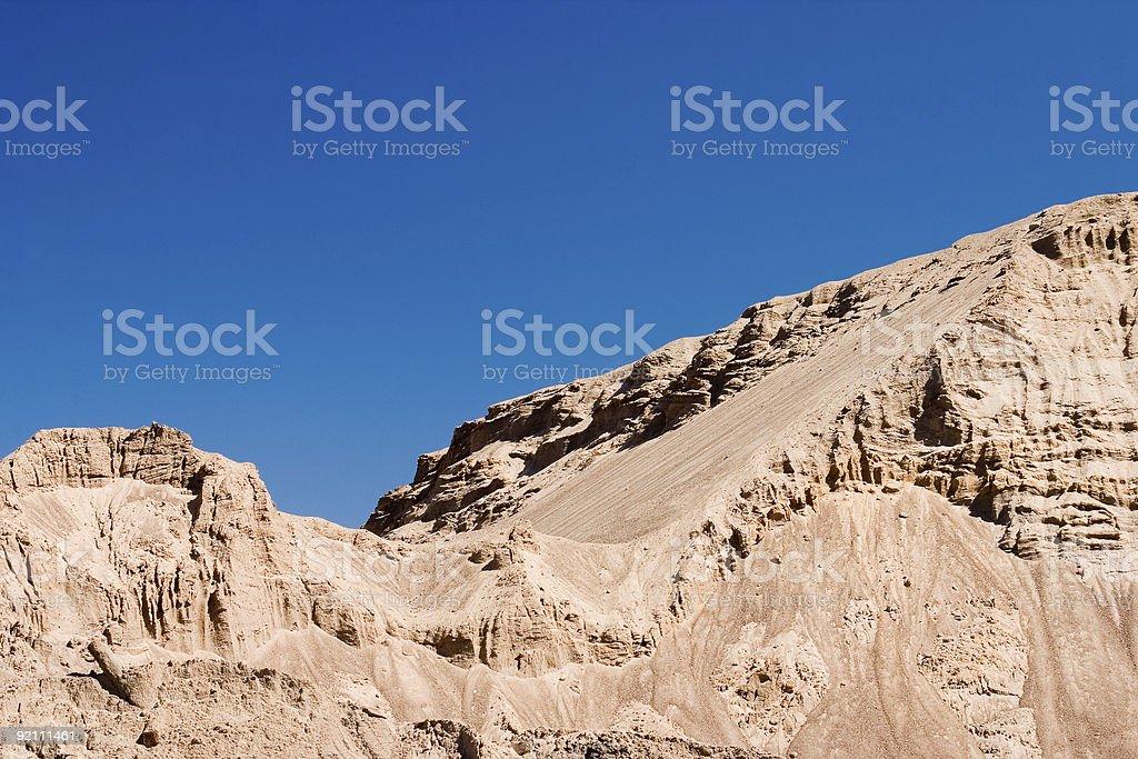 Desert hilly landscape royalty-free stock photo