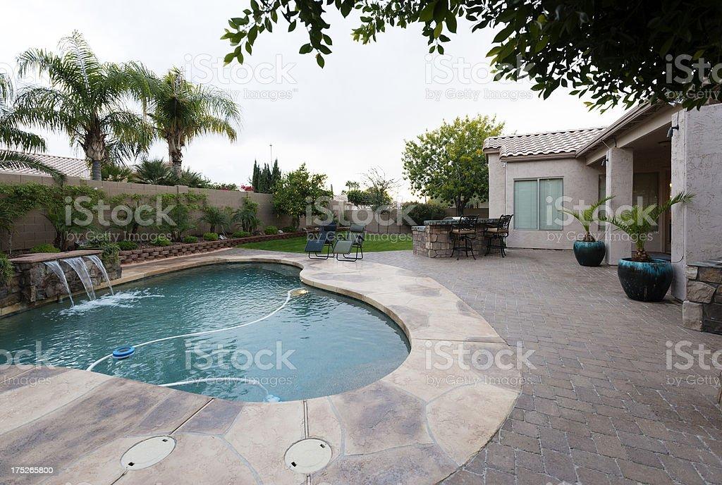 A beautiful backyard on a home in Arizona.