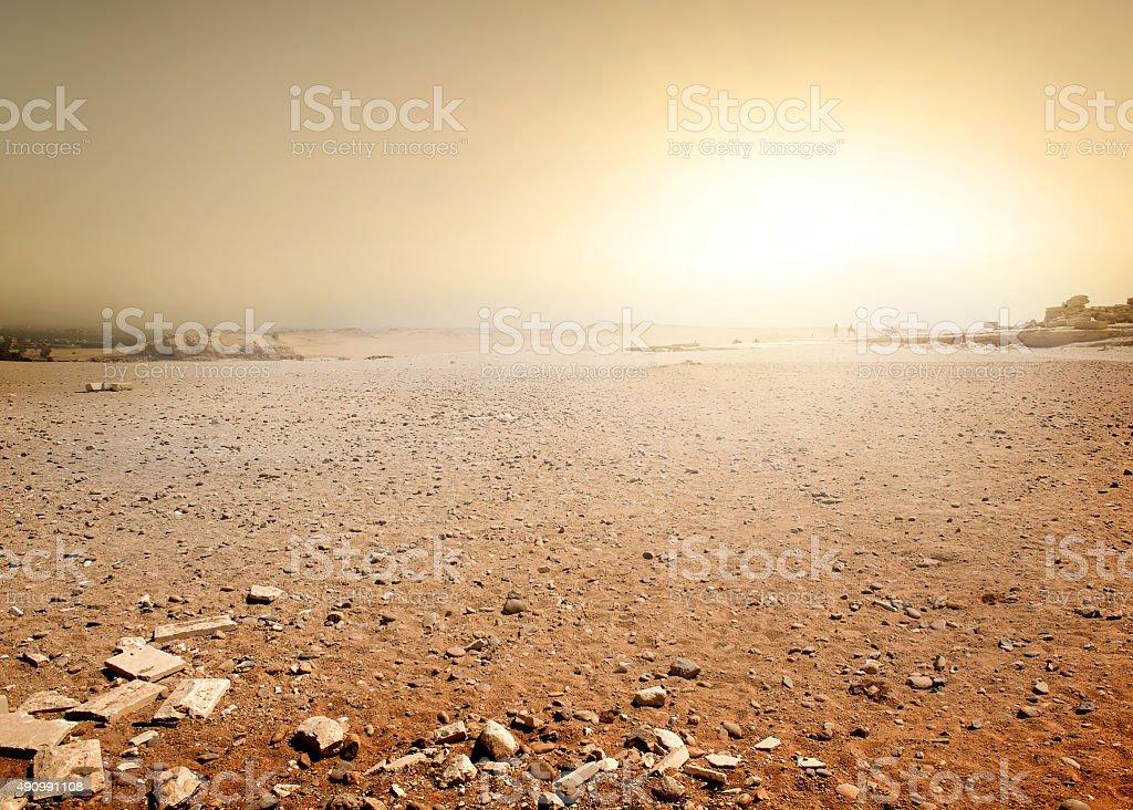 Desert in Egypt Sandy desert in Egypt at the sunset 2015 Stock Photo