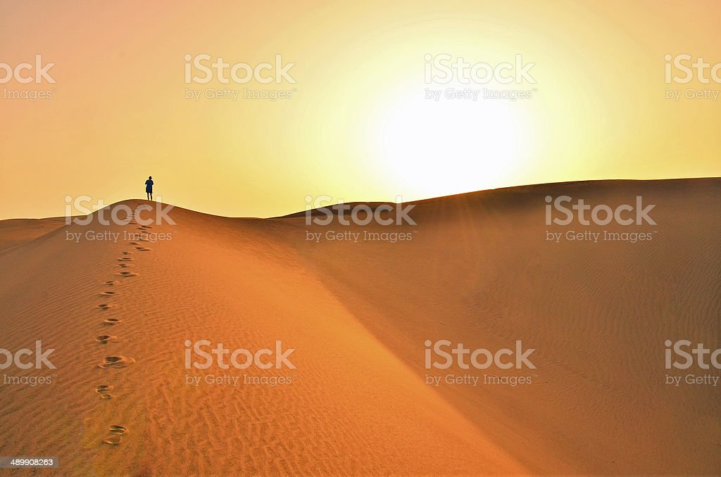 Desert in Gran Canaria stock photo