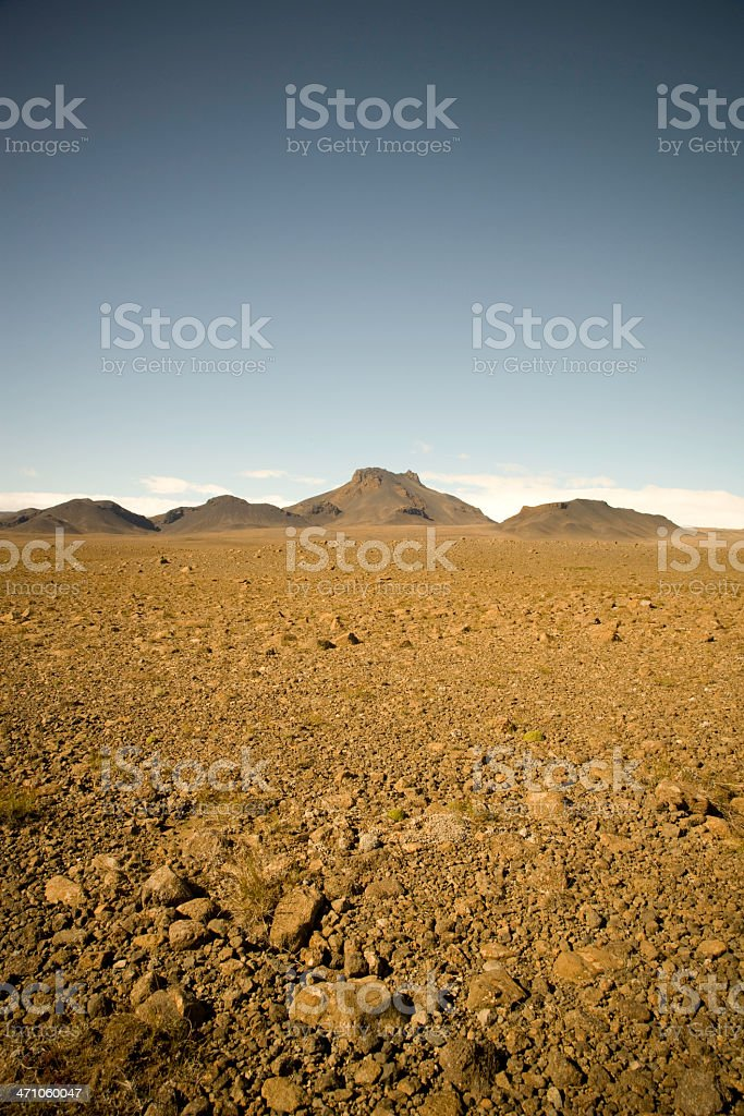 Desert in Iceland royalty-free stock photo