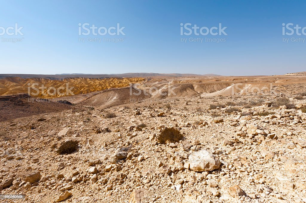 Desert in Israel stock photo