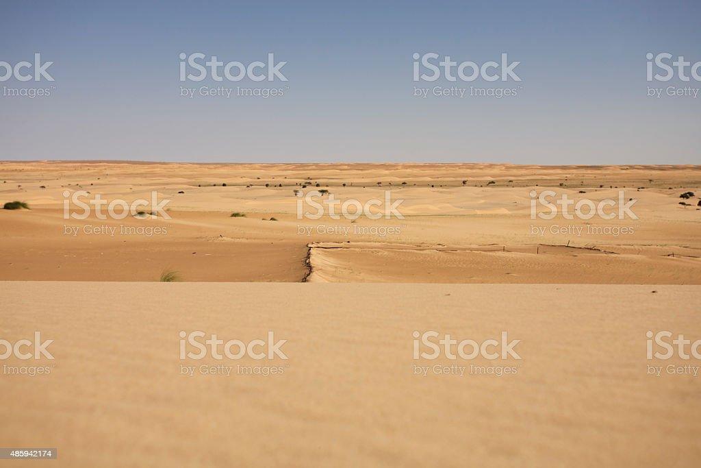 Desert in Mauritania stock photo