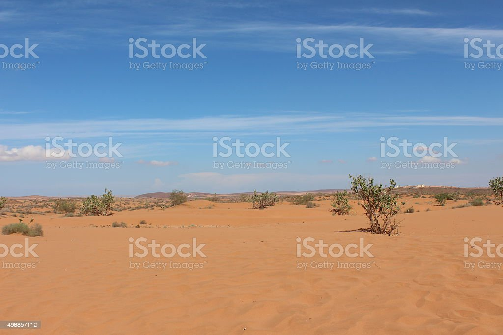 Desert in Morocco. stock photo