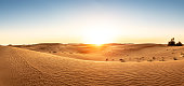Desert in the United Arab Emirates at sunset
