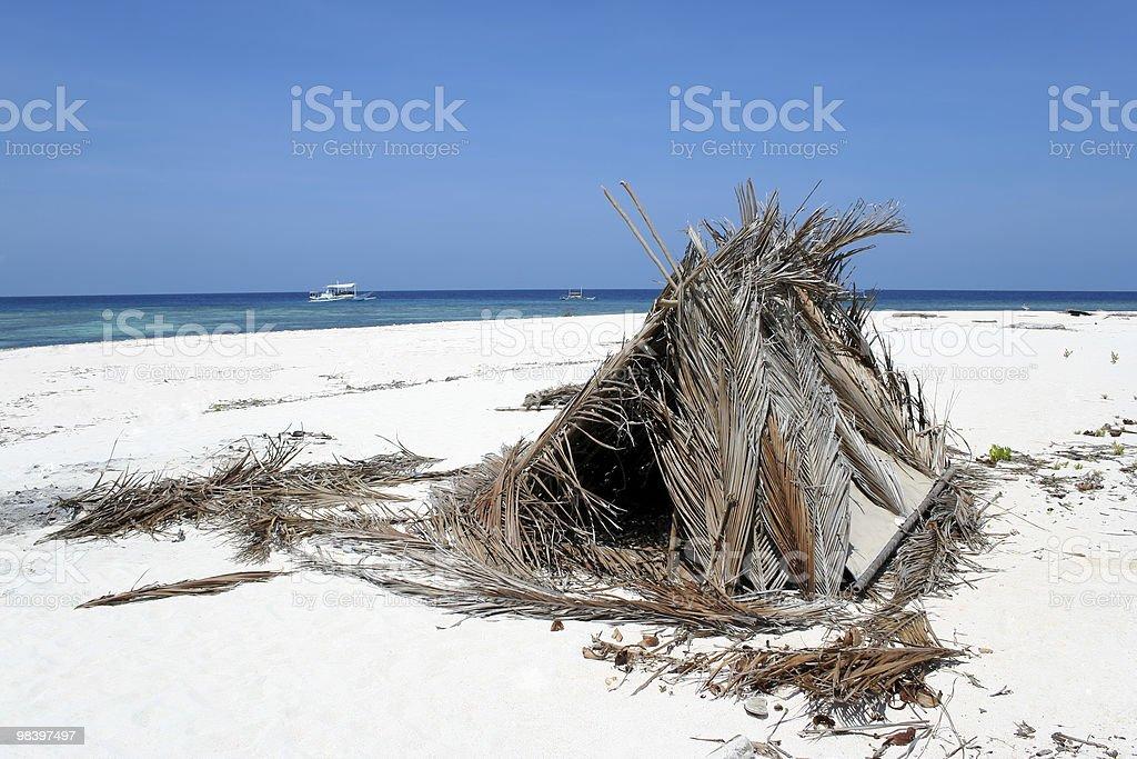 desert island beach shelter philippines royalty-free stock photo
