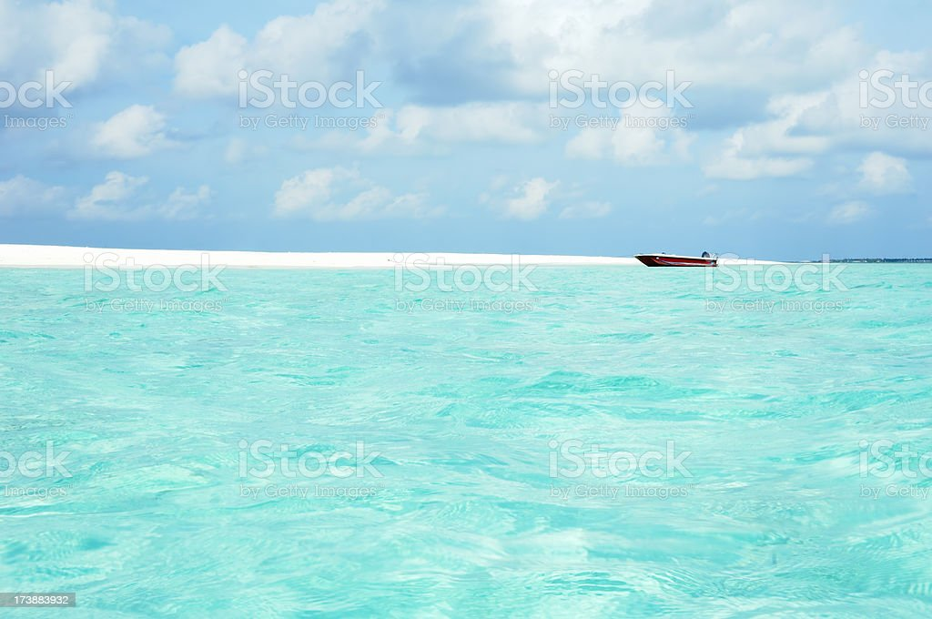 Desert Island Escape royalty-free stock photo