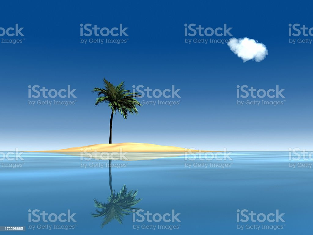 Desert Island Paradise XL royalty-free stock photo