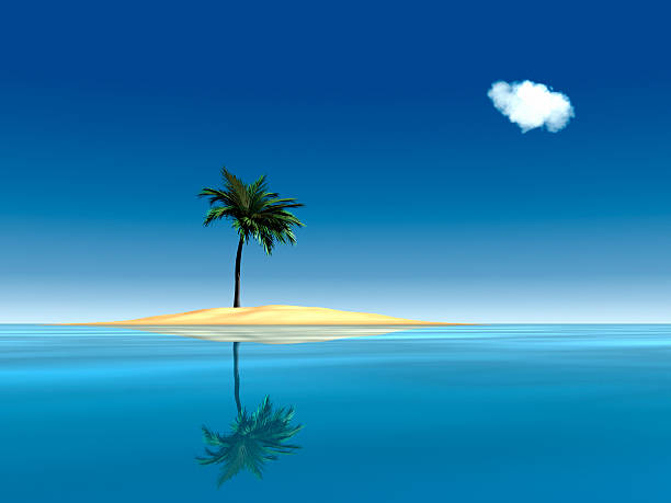 desert island paradise xl - desert island stock photos and pictures