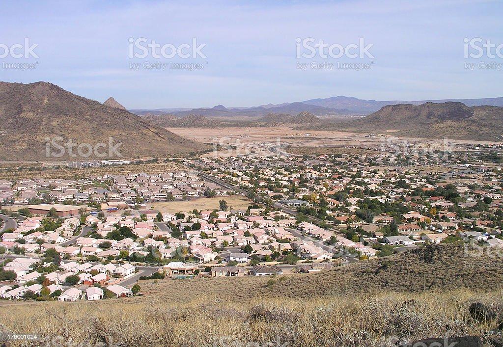Desert land development royalty-free stock photo
