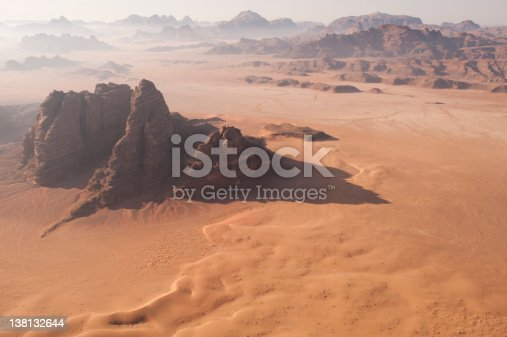 istock Desert Landscape at Dawn from the air 138132644