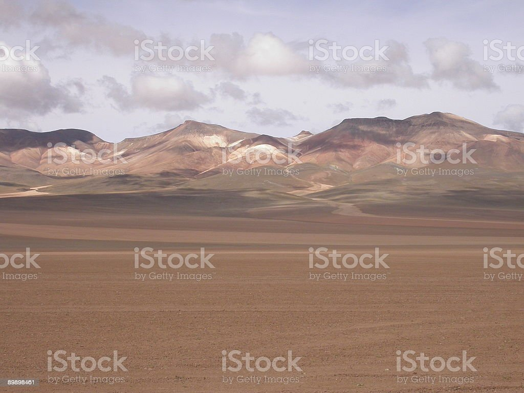 Desert Landscape Bolivia royalty-free stock photo