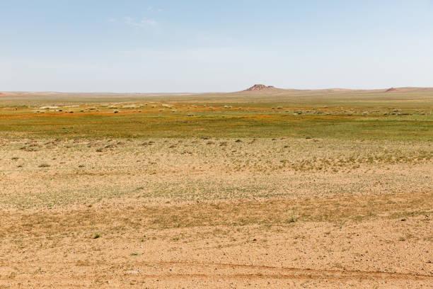 desert landscape Gobi desert Inner Mongolia China stock photo