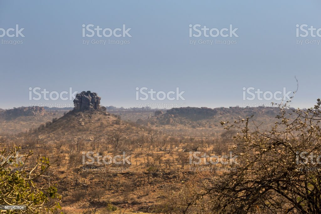 Desert Landscape of Mapungubwe National Park, South Africa stock photo