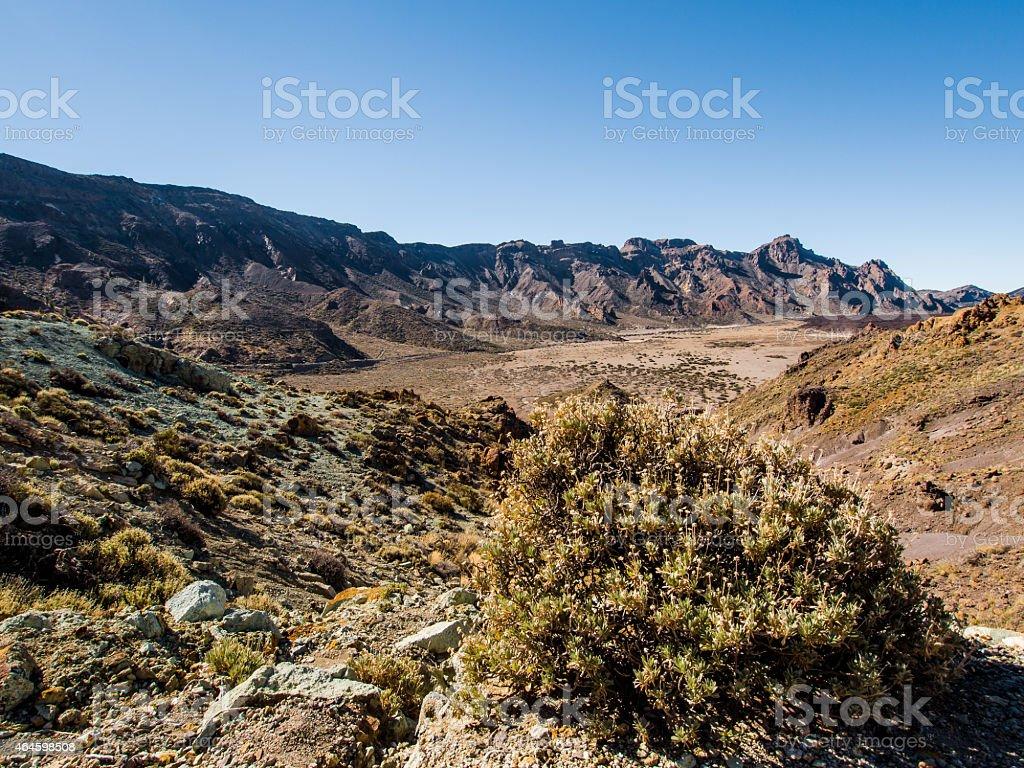 Desert landscape of Volcano Teide National Park. stock photo